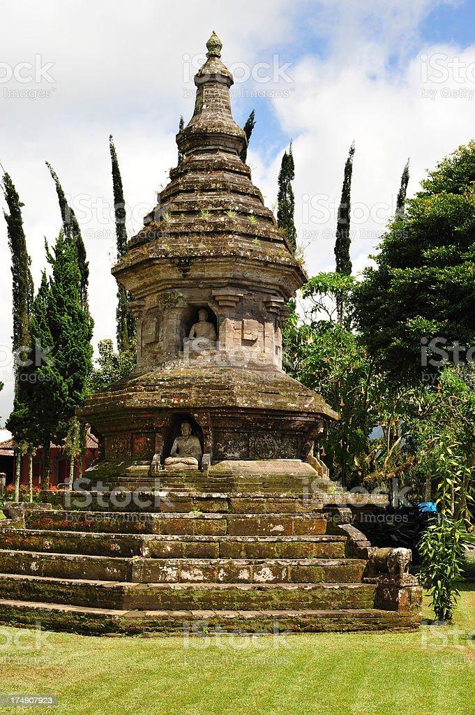 Buddhist Shrine at Lake Bratan, Bali royalty-free stock photo