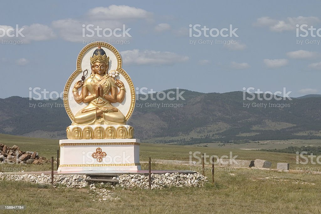 buddhist statue in siberia royalty-free stock photo