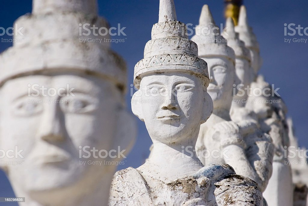 Buddhist statutes stock photo