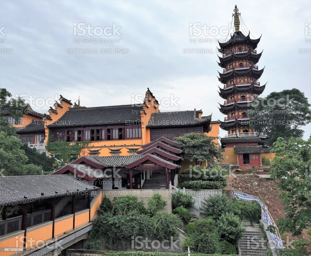 Buddhist Temple And Pagoda In Nanjing The Old Southern