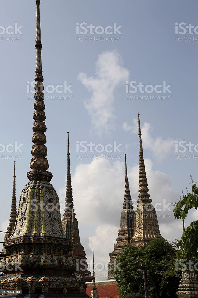 Buddhist Temple Bangkok royalty-free stock photo