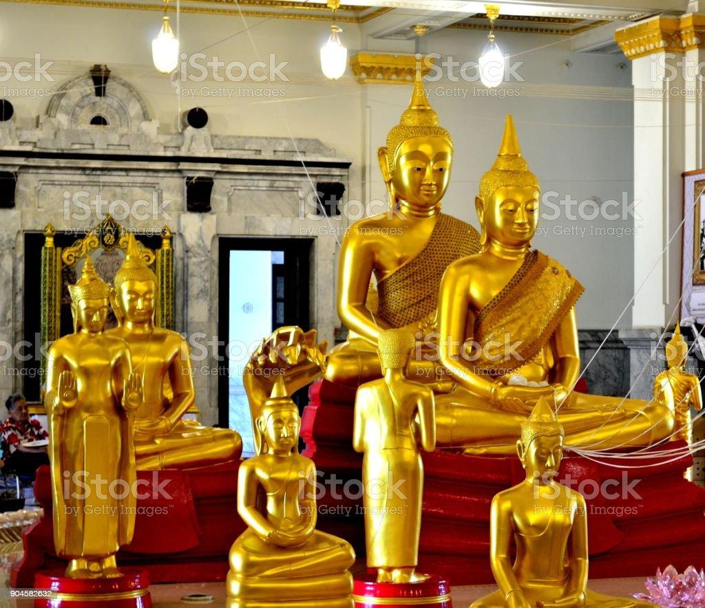 Buddhist Temple Chachoengsao, Thailand. stock photo