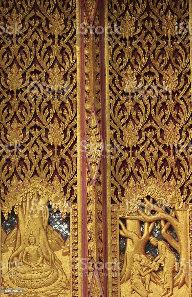 Buddhist temple doors royalty-free stock photo