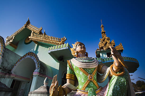 Buddhist Temple in Burma stock photo