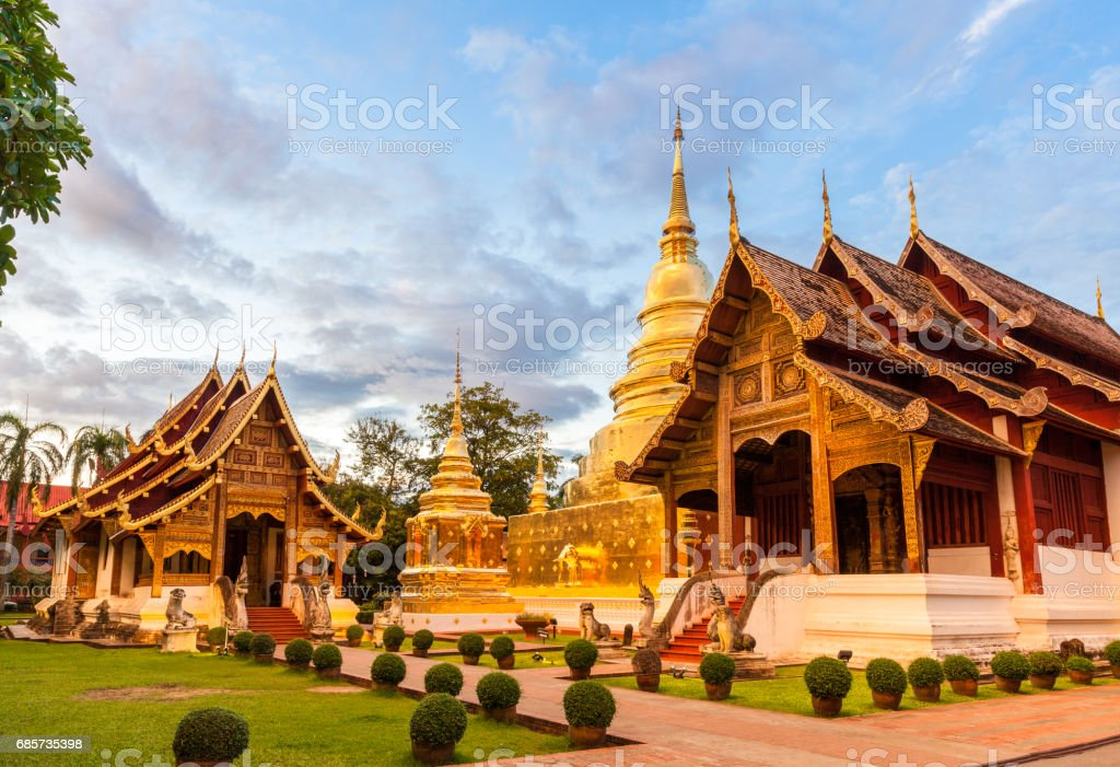 Buddhist temple in Chiang Mai foto de stock royalty-free