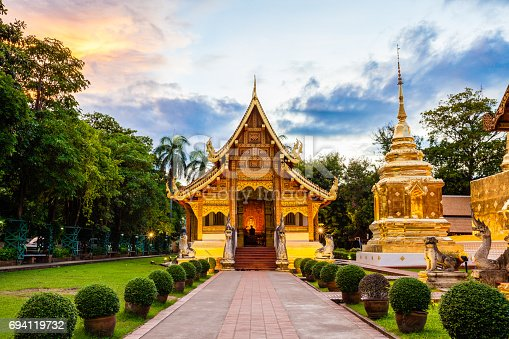 istock Buddhist temple in Chiang Mai 694119732