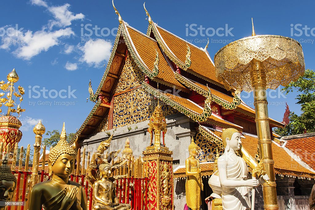 A Buddhist temple in Chiangmai, Thailand stock photo