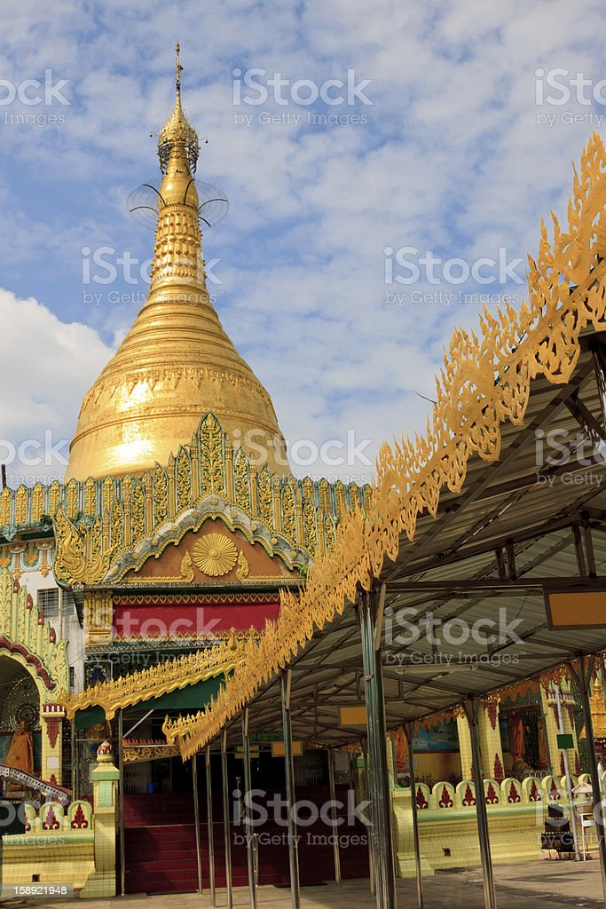 buddhist temple in myanmar royalty-free stock photo