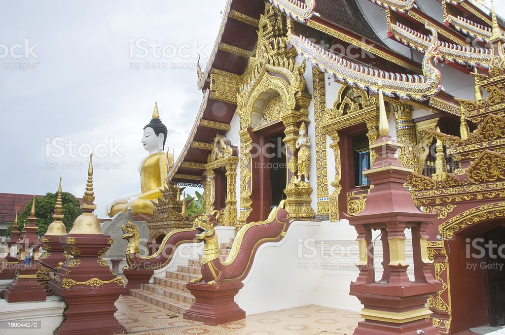 Buddhist Temple in Thailand royalty-free stock photo