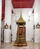 Bangkok, Thailand - December 7, 2015: Buddhist temple, interior of Wat Pho public temple, Bangkok, Thailand.