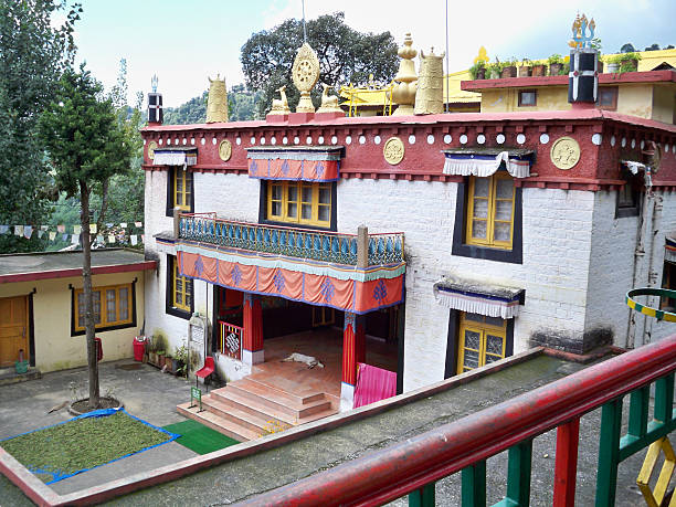 Buddhist Temple (India) Tsuglagkhang complex, McLeod Ganj, India circumambulation stock pictures, royalty-free photos & images