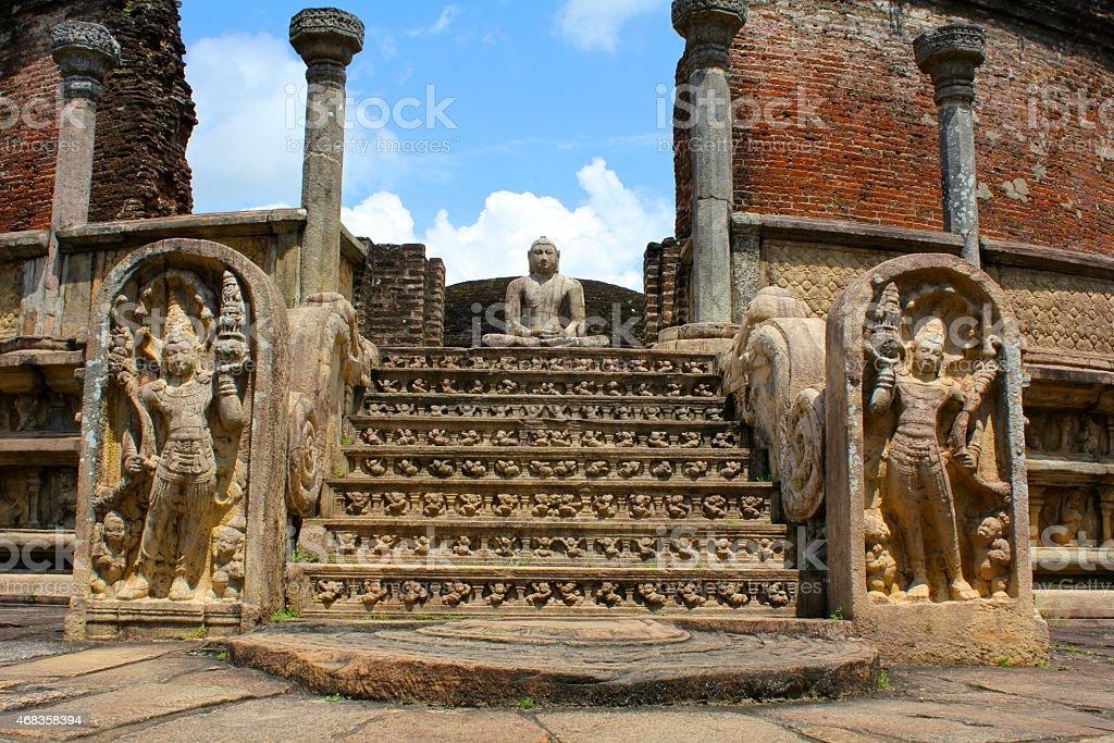 Buddhist Temple, Polonnaruwa Ruins, Sri Lanka royalty-free stock photo