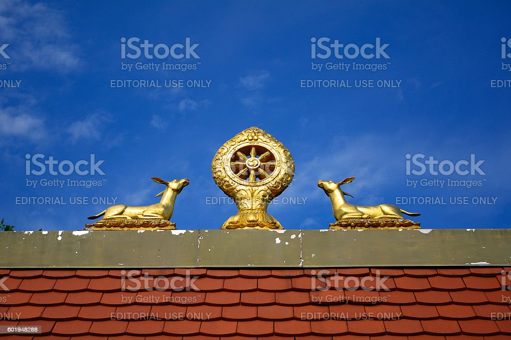 Buddhist temple, Tar, Hungary stock photo