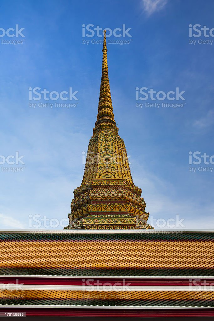 Buddhist temple, Wat Pho tourist attractions in Bangkok, Thailand. royalty-free stock photo
