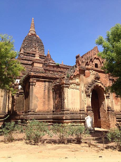 Buddhist temples in Bagan, Myanmar stock photo