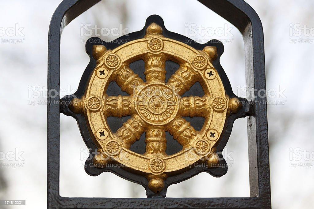 Buddhist wheel royalty-free stock photo