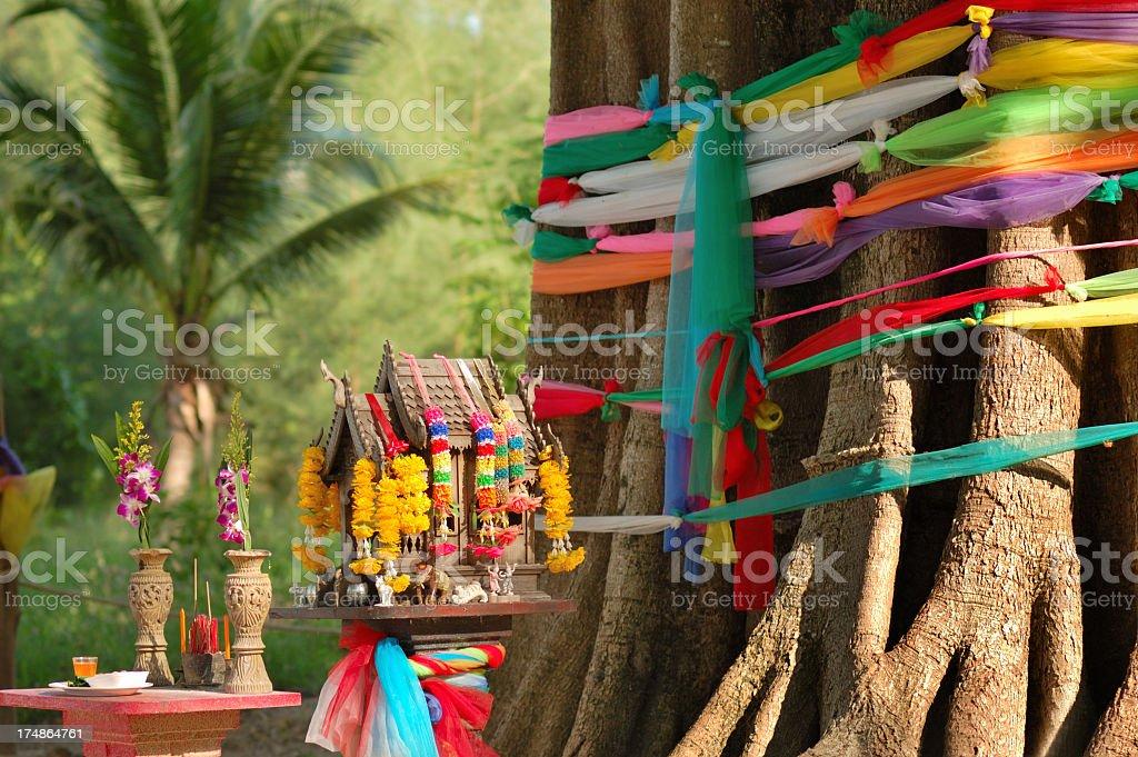 Buddhist worship place royalty-free stock photo