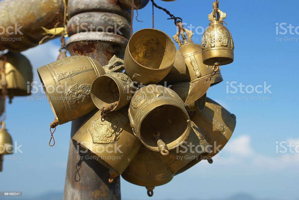 buddhistic bells in Thailand royalty-free stock photo