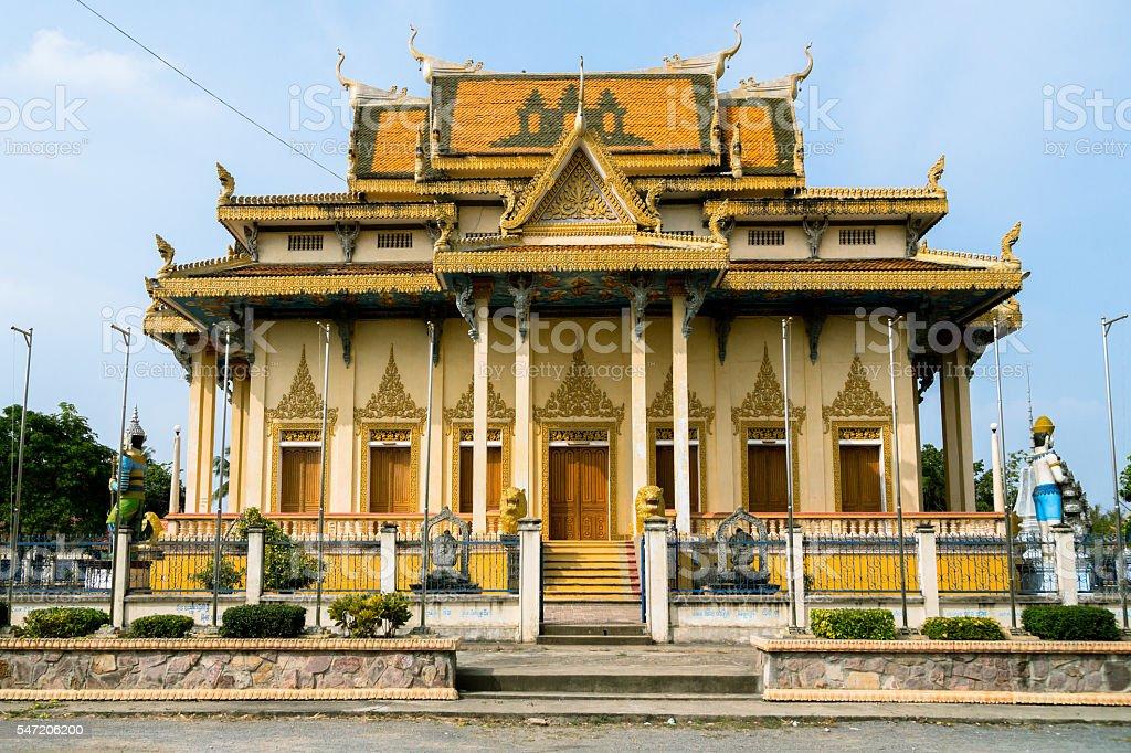 Buddhists Temple in Cambodia stock photo