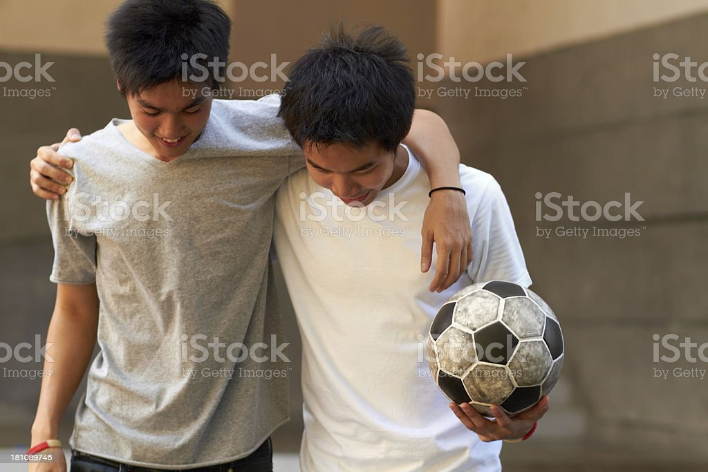 Buddies for life! stock photo