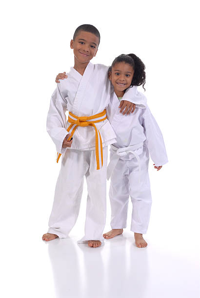 buddies - martial arts gerville stock photos and pictures