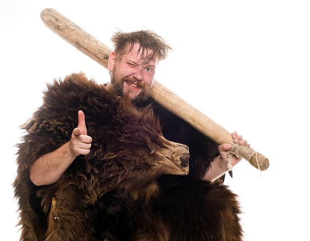 Buddy caveman stock photo