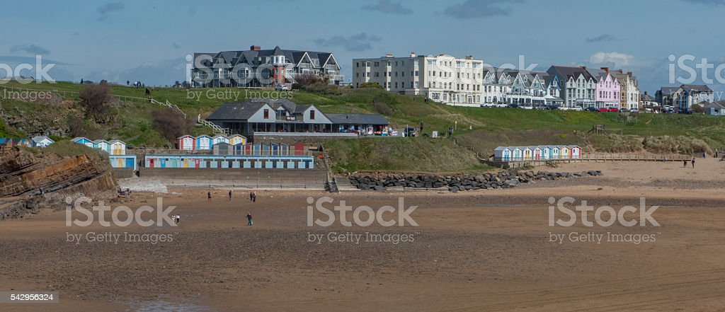 Bude beach, located in South West England stock photo