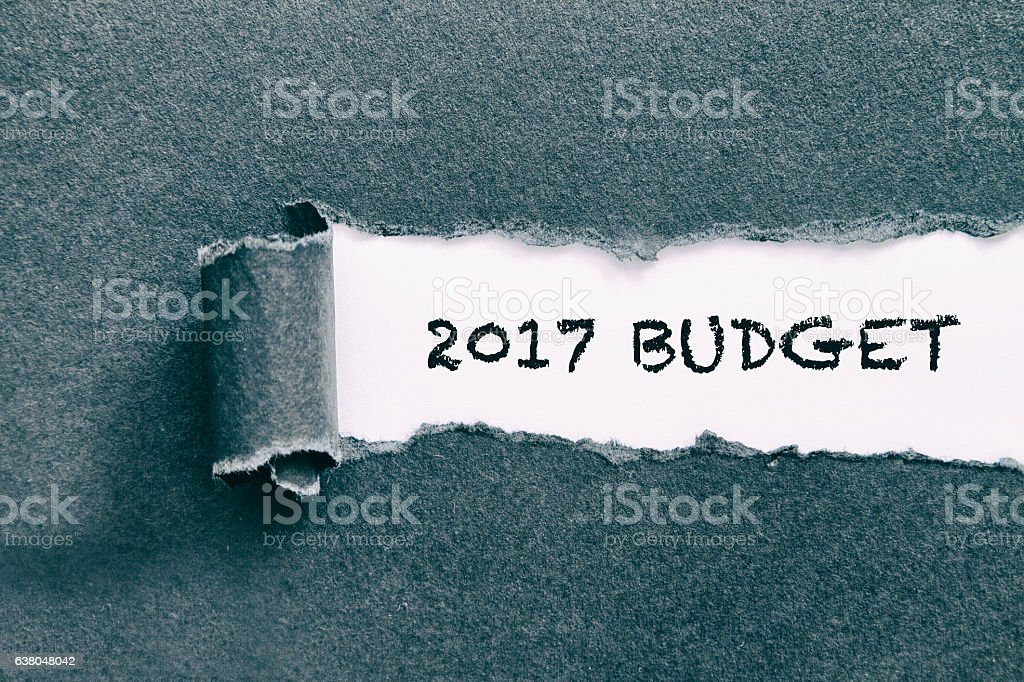 Budget 2017 stock photo