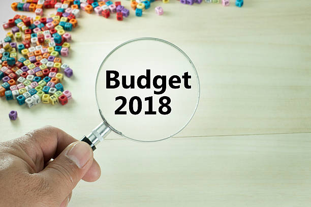 Budget 2018 Text stock photo
