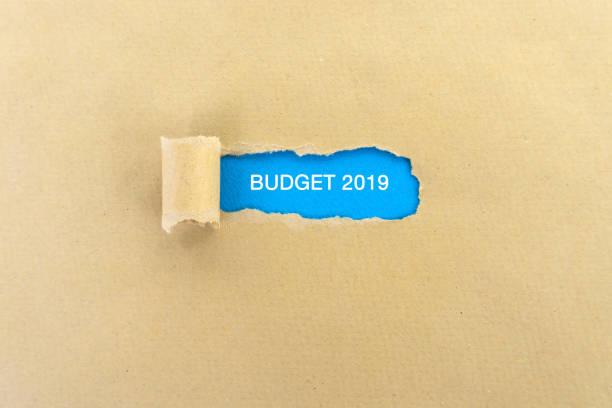 Budget 2019 stock photo