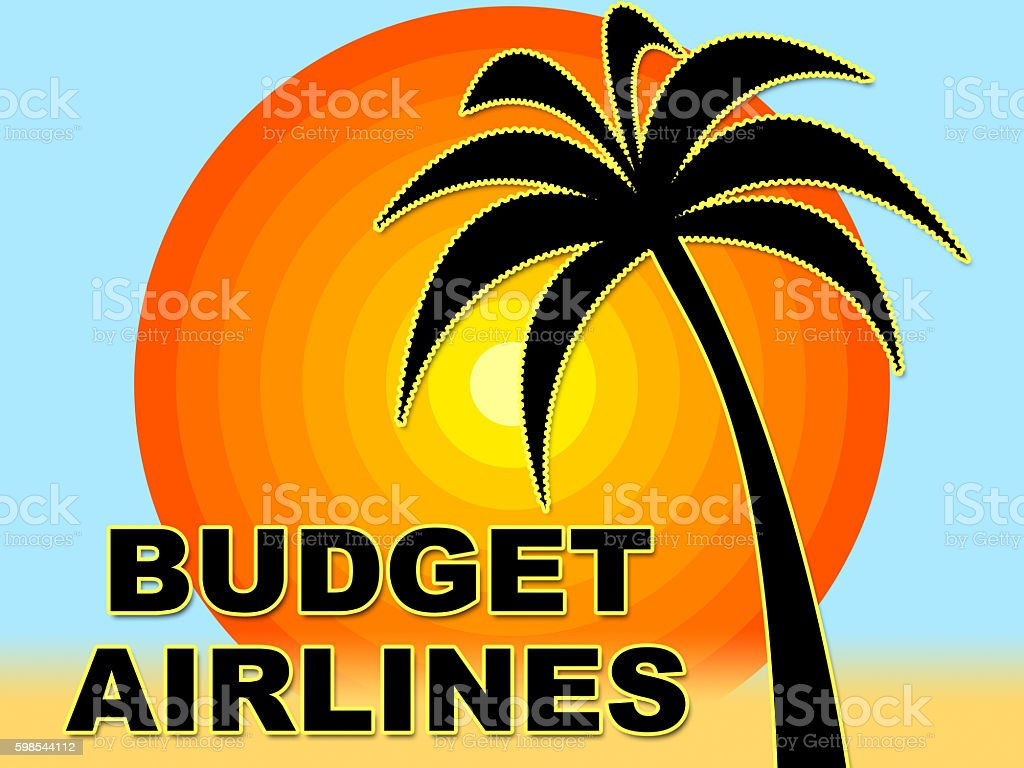 Budget Airlines Indicates Cut Price And Bargain stock photo