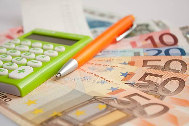 Budget Berechnung-Euro-Banknoten – Foto