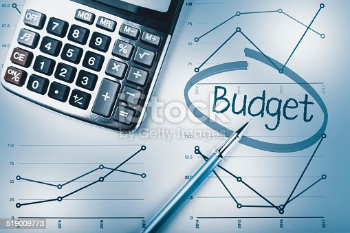 budget calculation pen calculator and graphs stock photo more