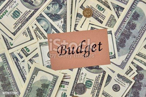 1039894076 istock photo Budget concept background. 972617592