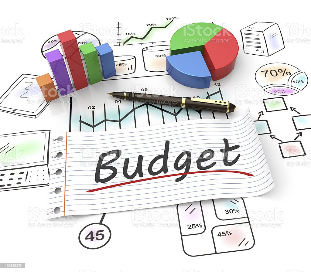 Budget concept stock photo