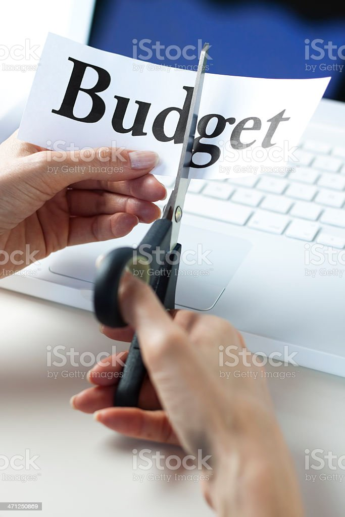 Budget cut concept stock photo