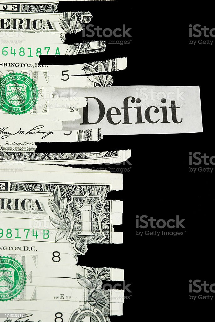 Budget deficit - I royalty-free stock photo