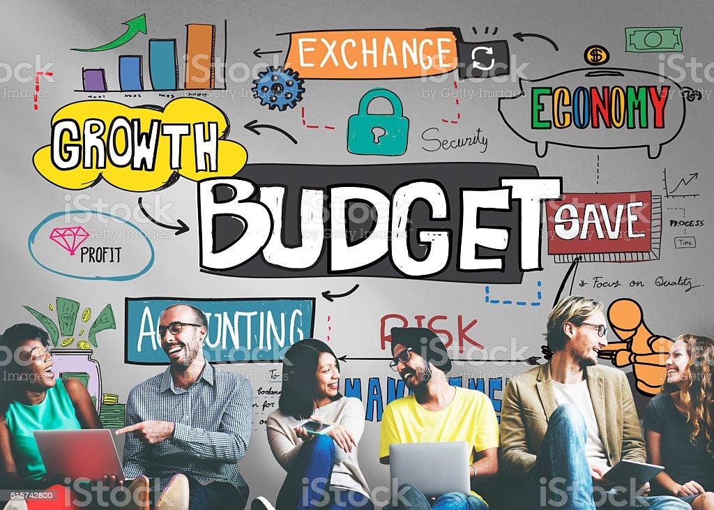 Budget Finance Business Cash Flow Concept stock photo