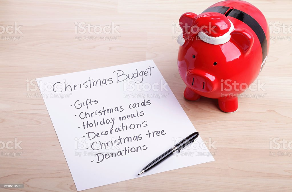 Budget for Christmas royalty-free stock photo