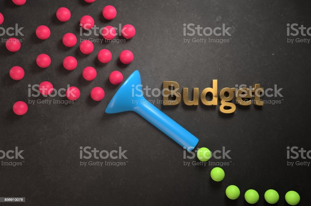 Budget Funnel stock photo