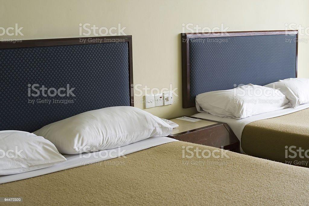 Budget hotel room stock photo