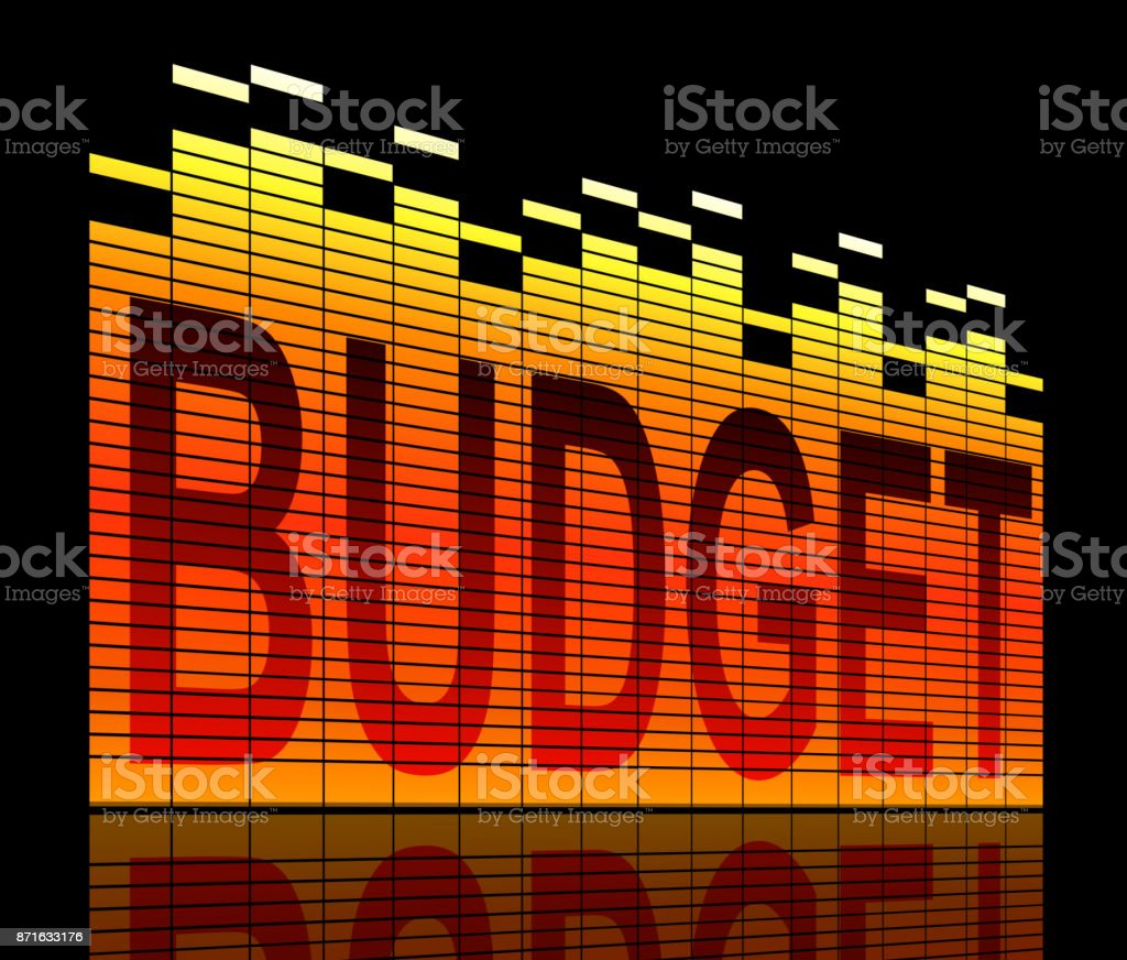 Budget levels concept. stock photo