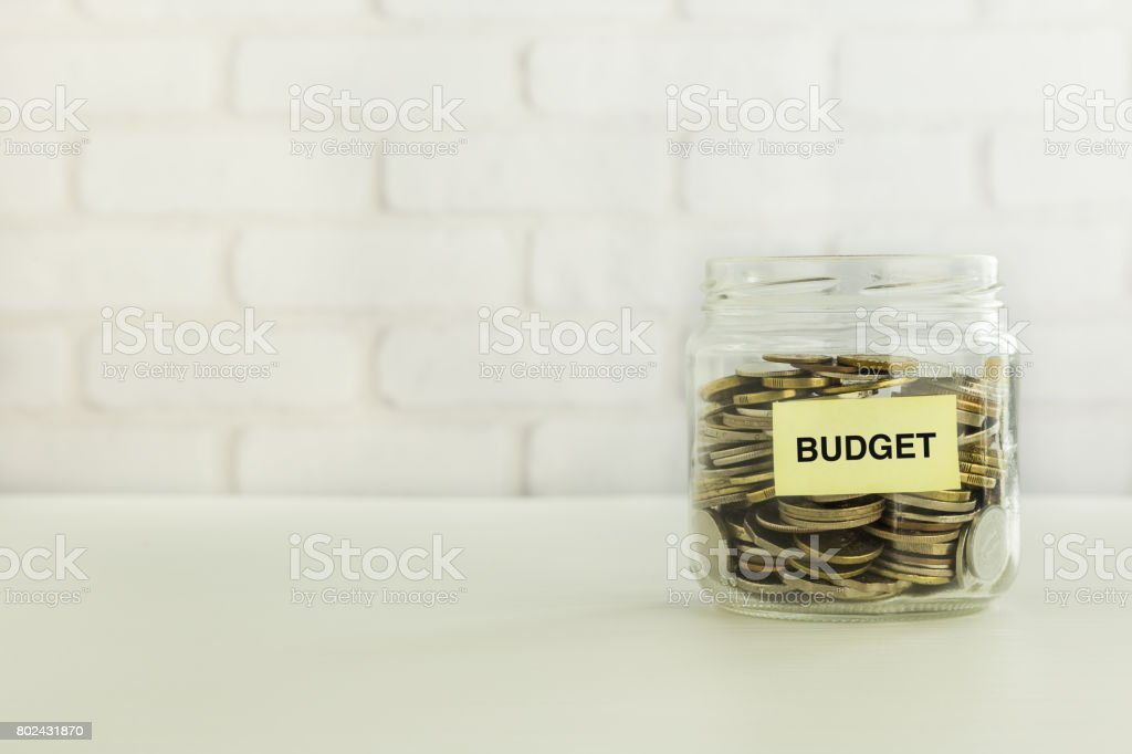 Budget money savings for banking account stock photo