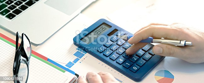 istock Budget planning concept. Savings calculations 1090431554