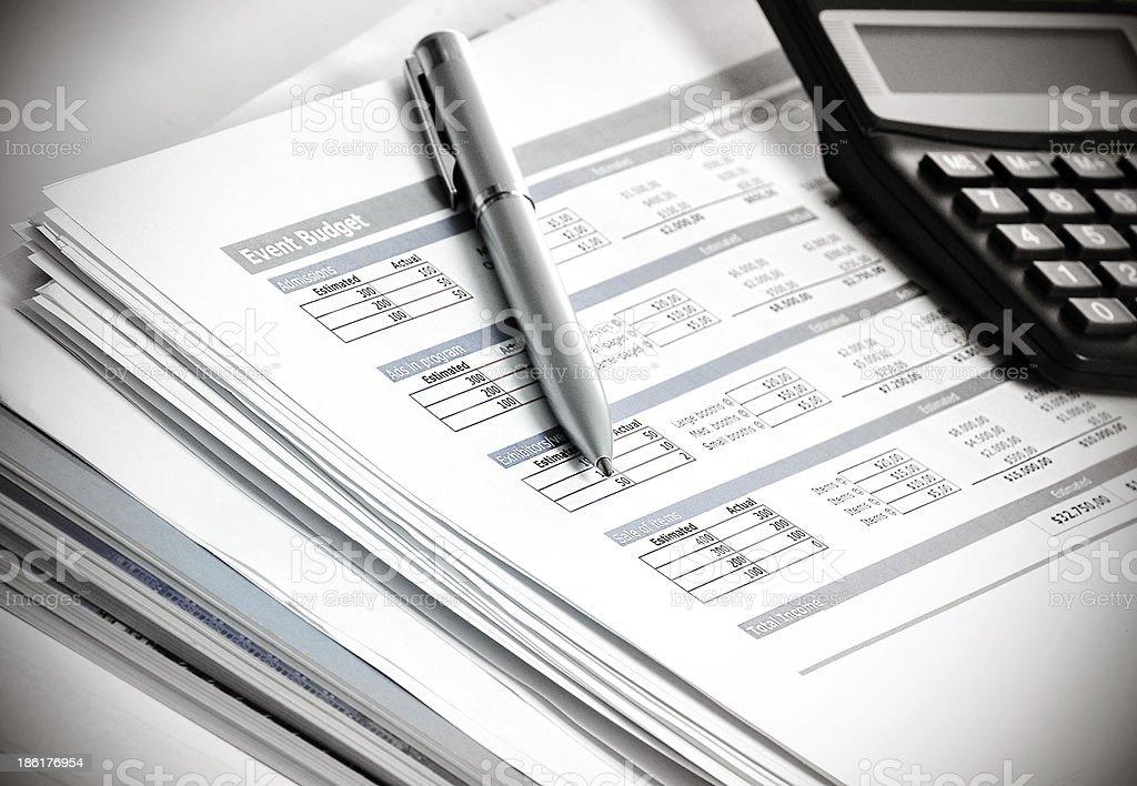 budget planning stock photo