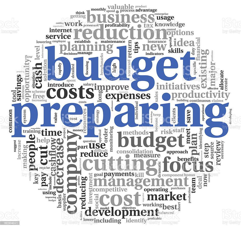 Budget preparing  concept royalty-free stock photo