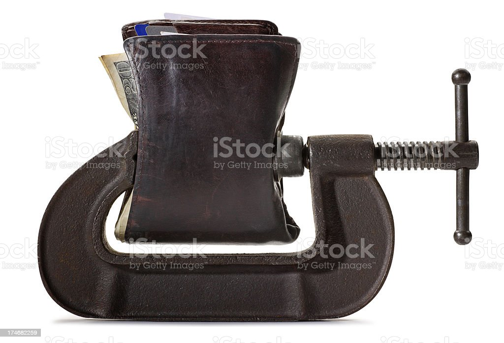 Budget Squeeze royalty-free stock photo