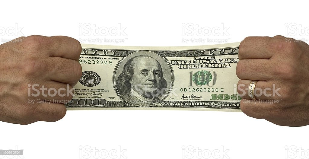 Budget Stretch 2 royalty-free stock photo