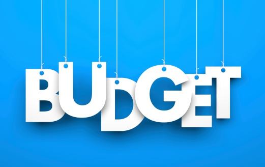 istock Budget. Word on strings 497715681