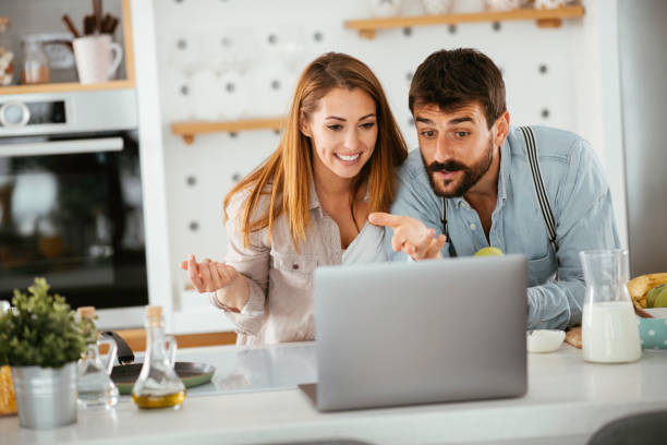 Budgeting is a breeze when it's done together stock photo stock photo
